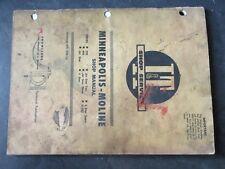 Minneapolis Moline 335 445 Jet Star 4 Star Tractor Shop Manual