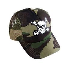 Pirate Trucker Cap camo, Calavera, Skull, Gothic,