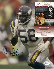Chris Doleman Signed Minnesota Vikings 8x10-JSA COA-Football Hall of Fame D-2020