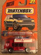 Matchbox Mack Red Auxiliary Power Truck to the Rescue 21 Series 4 Mattel Wheels