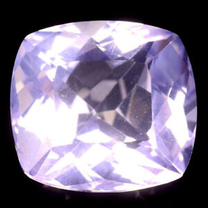 RARE GEMS STONE COLLECTION NATURAL LAVENDER COLOR AMETHYST 13.84 CT CUSHION CUT