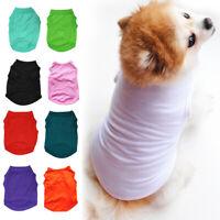 Summer Pet Clothes Puppy Small Dog Cat Pet Vest T-Shirt Coat Costume Apparel New