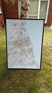MAP OF NORTHUMBERLAND BEAUTIFULLY FRAMED