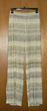 Chico's Painterly Ikat Fluid Olive, Yellow and White Regular Pants-Size 2 NWOT!!