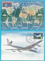 Países Bajos De 1959 MiNr.737-738 Tarjeta Máxima - Klm Avión