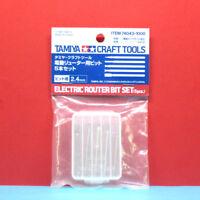 Tamiya #74043 Electric Router Bit Set [diameter 2.4mm]  (5pcs) [Craft Tools]