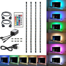 4PCS USB-Mood Light RGB Multi Color LED-Streifen Leuchte TV-Backlight + Remote
