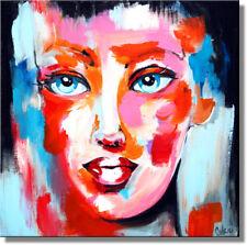 Unikat Acrylfarbe Wandbild Gemälde Culari Art  40 x 40 cm  Portrait 540