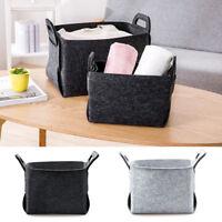 Felt Storage Basket Portable Laundry Bag Multi-function Box Organizer Bin 1PC