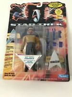 """STAR TREK GENERATIONS Geordi LaForge AND Pirate Worf 5"""" Action Figure w/Gear"""