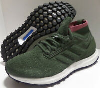 adidas Ultra Boost All Terrain Running Shoes Green / Trace Maroon Kids US Size 6