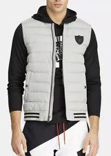 Polo Ralph Lauren Men's Andover Heather Grey P-Wing Hybrid Puffer Down Vest~NWT