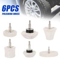 Kit de foret roue vadrouille tampon polissage de voiture 6pc G