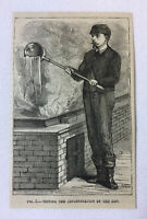 1877 magazine engraving ~ TESTING THE CONCENTRATION OF THE SAP Maple Syrup