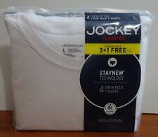 Jockey 4-Pack Men's Classic Collection 100% Cotton Crew-Neck T-Shirt White