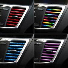 10 Pcs/set Colorful Air Conditioner Air Outlet Decoration Strip Car Accessories