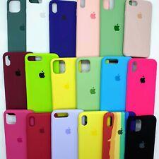 Funda Silicona Silicone Case Interior Microfibra para iPhone con Logo Manzana