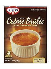 Dr. Oetker Creme Brulee Mix 4 Servings 3.7oz (Pack of 3) Free Shipping
