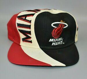 Miami Heat Twins Enterprise Swirl Vintage 90's Adjustable Snapback Cap Hat - NWT