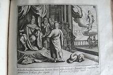 C21-1c Gravure religieuse 17e Nabuchodonofor demande à des magiciens (daniel 2)