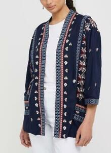 Monsoon - Lulu Embroidered Kimono - Size M - Navy - (Brand New With Tag)