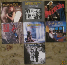 LOT of 7 DAVID LEE ROTH 45rpm Picture Sleeves (ONLY) NO 45s!!