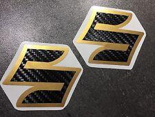 Aufkleber-Set 2teilig (Gr.1) SUZUKI GSXR GSX-R 600 750 1000 Emblem Carbon-Gold