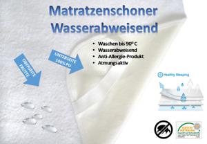 Matratzenschoner Matratzenauflage Wasserabw. 13 diverse Größen Baumwolle - PU