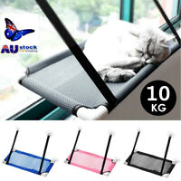Pet Cat Durable Seat Hammock Window Mounted Perch Basking Bed Hold Up To 10Kg