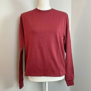 Outdoor Voices Cotton Long Sleeve T-Shirt Top Rhubarb NWT Size XS MSRP $48