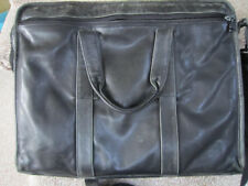TUMI Distressed LEATHER Expandable Briefcase Computer Bag Attache Messenger