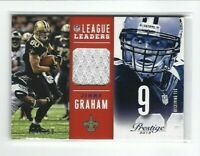 2013 Panini Prestige Jimmy Graham Jersey Card, League Leaders SP #/199, Saints!