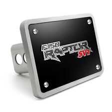 """Ford F-150 Raptor SVT 3D Black 3/8"""" Thick Solid Billet Aluminum Tow Hitch Cover"""