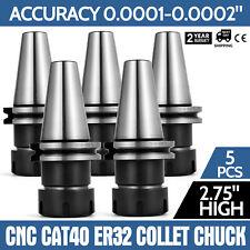 Cat40 Er32 Collet Chuck 5pcs 275 Gage Length 8000rpm Collet Tool Holder Set