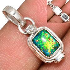Poison - Fire Opal 925 Sterling Silver Pendant Jewelry AP168789