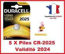 5 Batterie CR-2025 DURACELL pulsante Litio 3V DLC 2024