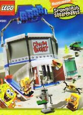 LEGO CHUM BUCKET 4981 w/ Box Set SpongeBob restaurant robots 3x minifigs