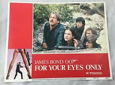 Original 1981 For Your Eyes Only James Bond 007 Lobby Card Fleming #6