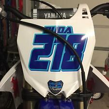 Mx Number Name Plate Decal Sticker 4 Color Atv Sx Dirt Bike Kart Motorcycle Race