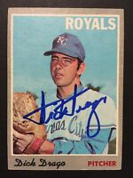 Dick Drago Royals Signed 1970 Topps Baseball Card #37 Auto Autograph 2