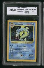 HOLY GRAIL RARE! ERROR CORNERS SQUARE CUT MISCUT  **  GYARADOS  **  Pokemon Card