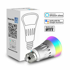 WiFi Smart LED Light Bulb E27 RGB for Amazon Alexa IFTTT/Google Home App Control