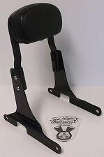 Harley Davidson Gloss Black Rigid Sideplates, Short Sissy Bar, Backrest Pad EUC