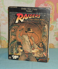 vintage RAIDERS OF THE LOST ARK video store counter display standee