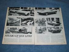 1968 Vintage Info Article on the Studio GT Due Litri Prototype by Neri