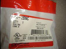 Wiremold 2A-2Bnc, Dual Bnc Connectors Insert