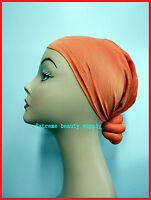 GREEN CHERRY woman girl wide headband  turban skull cap