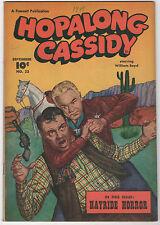 HOPALONG CASSIDY  #23  FAWCETT WESTERN 1948  WILLIAM BOYD