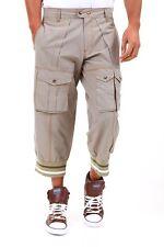 Pantaloni Uomo Jeans ABSOLUT JOY A670 Multitasche Beige Affusolato 7/8 Tg M