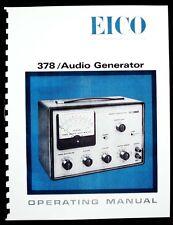 EICO Model 378 Audio Generator Operating Manual